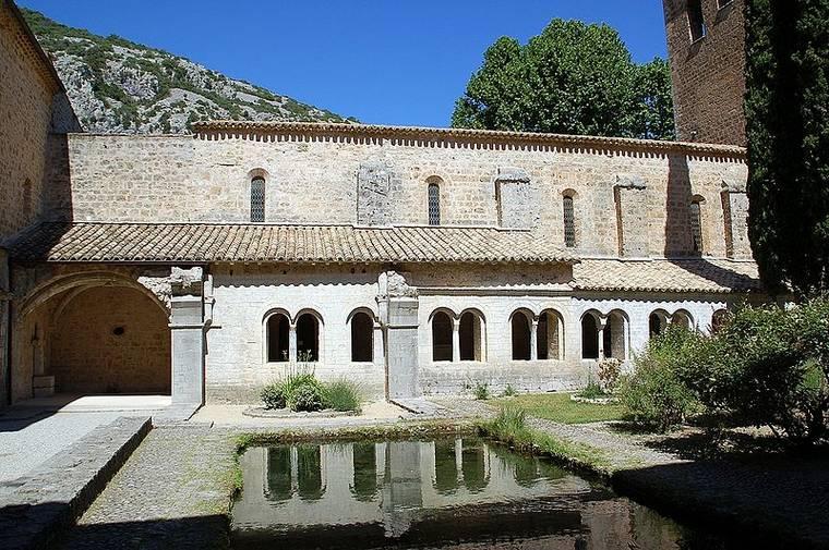 Cour intérieure de l'abbaye