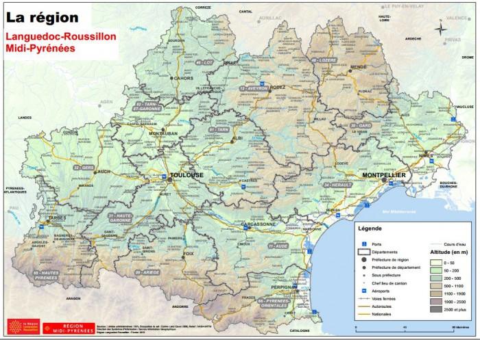 Région Languedoc-Roussillon et Midi-Pyrénées