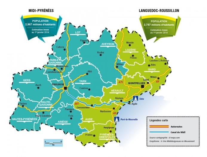 Occitanie : Languedoc-Roussillon et Midi-Pyrénées